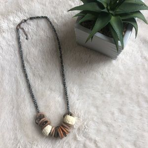 Urban Outfitters Wooden Boho Necklace